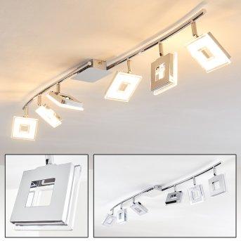 Krakau lampy sufitowe listwy LED Chrom, 6-punktowe