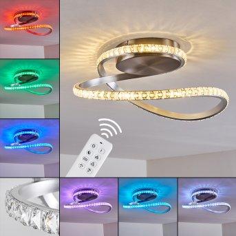 Saginaw Lampa Sufitowa LED Nikiel matowy, 1-punktowy, Zdalne sterowanie, Zmieniacz kolorów