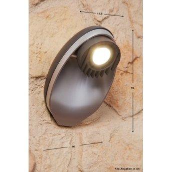 Lutec EGGO zewnętrzny kinkiet LED Antracytowy, 3-punktowe