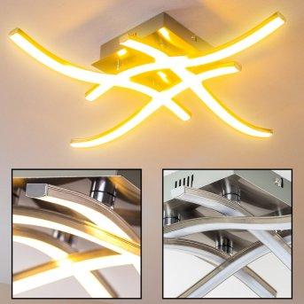 Nanaimo Lampa sufitowa LED Nikiel matowy, 4-punktowe