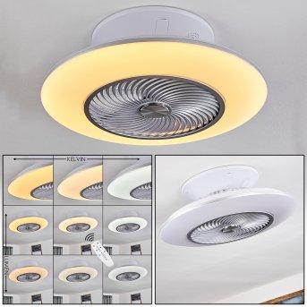 Nagoya wentylator sufitowy LED Biały, 1-punktowy, Zdalne sterowanie