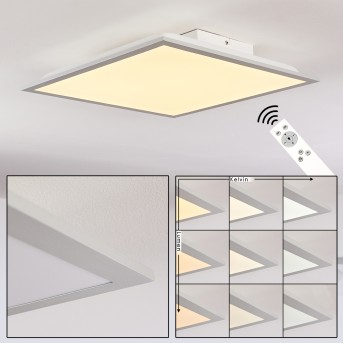 Farc Lampa Sufitowa LED Srebrny, 1-punktowy, Zdalne sterowanie