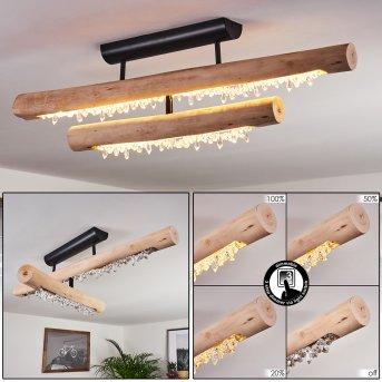 Rodeche Lampa Sufitowa LED Czarny, Jasne drewno, 1-punktowy