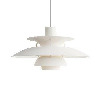 Louis Poulsen PH5 Lampa Wisząca Biały, 1-punktowy