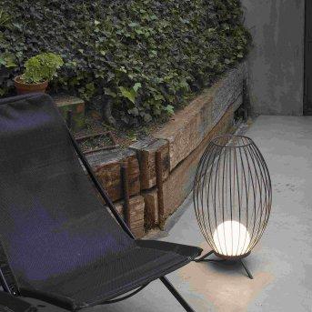 Faro Barcelona Cage Zewnętrzna Lampa Stojąca LED Siwy, 1-punktowy