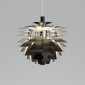 Louis Poulsen PH Artichoke Lampa Wisząca LED Stal nierdzewna, 1-punktowy