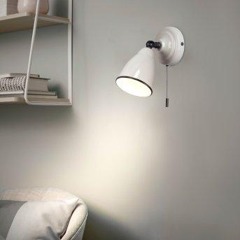 Brilliant TELIO Lampa ścienna Siwy, Biały, 1-punktowy