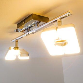 Turin lampy sufitowe listwy LED Chrom, 2-punktowe