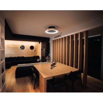Mantra TIBET wentylator sufitowy LED Czarny, Złoty, 1-punktowy, Zdalne sterowanie
