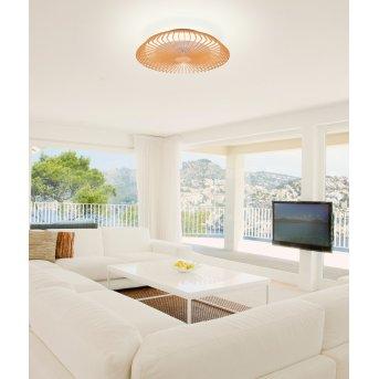 Mantra HIMALAYA wentylator sufitowy LED Jasne drewno, 1-punktowy, Zdalne sterowanie