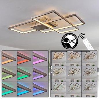 Momahaki Lampa Sufitowa LED Chrom, 1-punktowy, Zdalne sterowanie