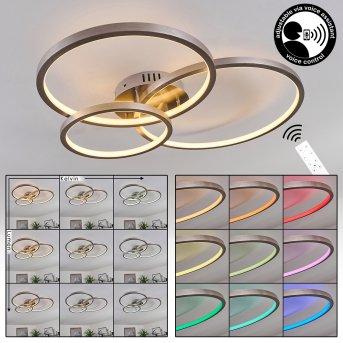 Moemoto Lampa Sufitowa LED Nikiel matowy, 1-punktowy, Zdalne sterowanie