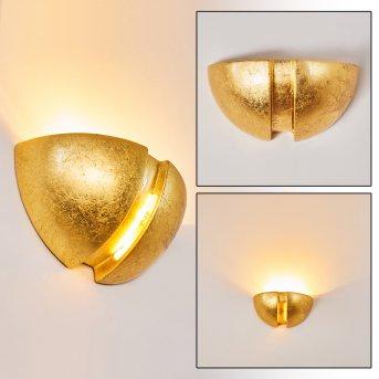 Kawasaki Lampa ścienna Złoty, 1-punktowy