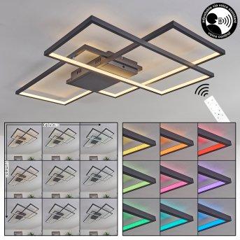 Momahaki Lampa Sufitowa LED Antracytowy, 1-punktowy, Zdalne sterowanie
