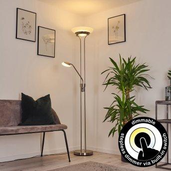 Mairoa Lampa Stojąca LED Nikiel matowy, 2-punktowe