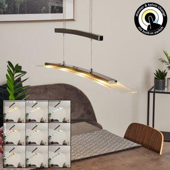 Balcairn Lampa Wisząca LED Nikiel matowy, 4-punktowe