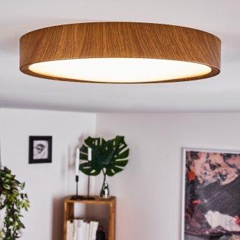 Nexo Lampa Sufitowa LED Ciemne drewno, 1-punktowy