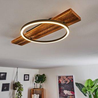 Pompu Lampa Sufitowa LED Czarny, Ciemne drewno, 1-punktowy