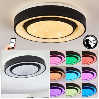 Grimacco Lampa Sufitowa LED Czarny, 1-punktowy, Zmieniacz kolorów