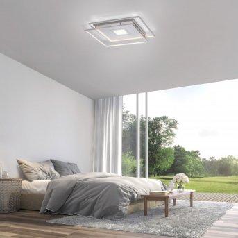 Paul Neuhaus Q-AMIRA Lampa Sufitowa LED Nikiel matowy, 1-punktowy, Zdalne sterowanie