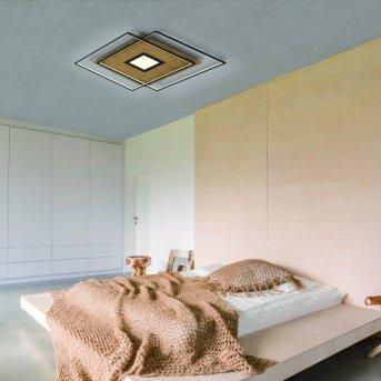 Paul Neuhaus Q-AMIRA Lampa Sufitowa LED Jasne drewno, 1-punktowy, Zdalne sterowanie
