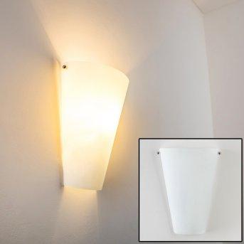 Zera lampa ścienna Aluminium, Biały, 1-punktowy