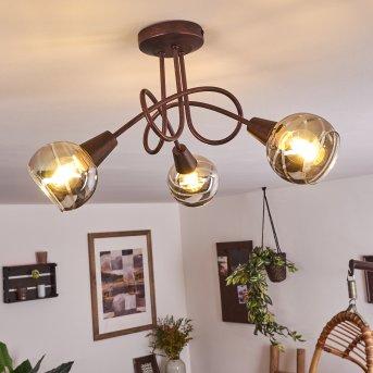 Warga Lampa Sufitowa LED Brązowy, 3-punktowe