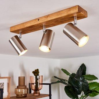 Zuoz Lampa Sufitowa Jasne drewno, 3-punktowe