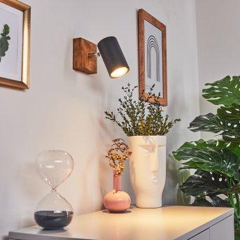 Zuoz Lampa Sufitowa Jasne drewno, 1-punktowy
