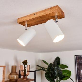 Zuoz Lampa Sufitowa Jasne drewno, 2-punktowe