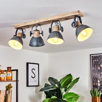 Orny Lampa Sufitowa Siwy, Jasne drewno, 4-punktowe