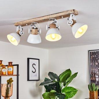 Orny Lampa Sufitowa Biały, Jasne drewno, 4-punktowe