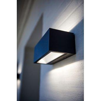 Lutec GEMINI Zewnętrzny kinkiet LED Czarny, 2-punktowe