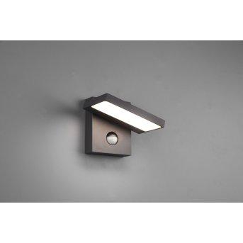 Trio Horton Zewnętrzny kinkiet LED Antracytowy, 1-punktowy, Czujnik ruchu