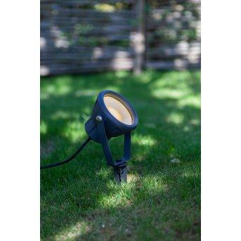 Lutec MINI LETO Kotwa wbijana LED Antracytowy, 1-punktowy, Zmieniacz kolorów