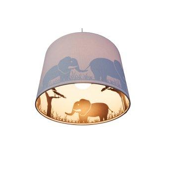 Waldi Elefant Lampa Wisząca Siwy, 1-punktowy