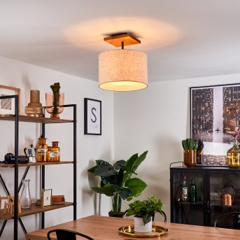 Shiburg Lampa Sufitowa Jasne drewno, 1-punktowy