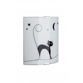 Brilliant Cat Lampa ścienna Biały, 1-punktowy