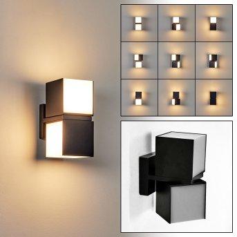 Swanek Zewnętrzny kinkiet LED Czarny, 1-punktowy