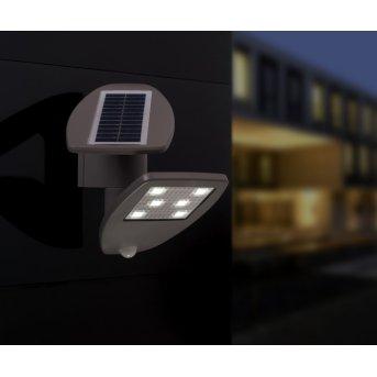 Lutec ZETA zewnętrzny kinkiet LED Siwy, 1-punktowy, Czujnik ruchu