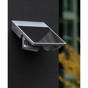 Lutec TILLY zewnętrzny kinkiet LED Srebrny, 1-punktowy, Czujnik ruchu