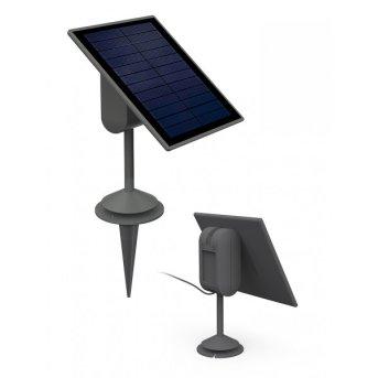 Lutec Sun connec Solar SPARTA panel solarny LED Siwy, Czujnik ruchu