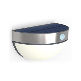 Lutec BRICK Lampa ścienna LED Stal nierdzewna, 1-punktowy, Czujnik ruchu
