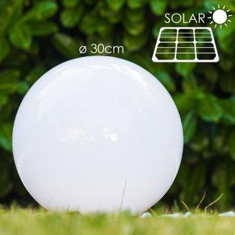 Solar świecąca kula LED Stal nierdzewna, 2-punktowe