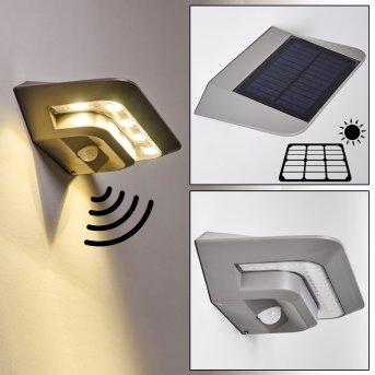 Lampa solarna Camden LED Siwy, 1-punktowy, Czujnik ruchu