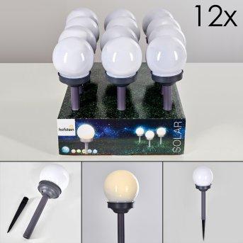 Hakon oświetlenie ogrodu zestaw 12 sztuk LED Siwy, 1-punktowy
