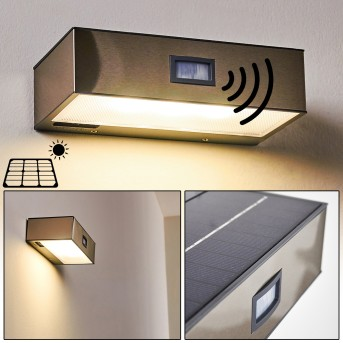 Zewnętrzny kinkiet Attu LED Nikiel matowy, 1-punktowy, Czujnik ruchu