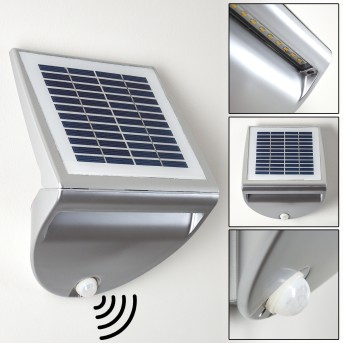 Lesum Zewnętrzny kinkiet LED Srebrny, 1-punktowy, Czujnik ruchu