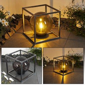 Albuquerque Lampa solarna LED Srebrny, 1-punktowy