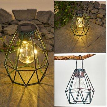 Andalo Lampa solarna LED Zielony, Rudy, 1-punktowy